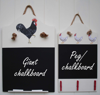 Giant and Peg Chalkboard